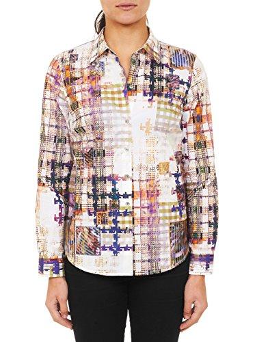 Robert Graham Honora Long Sleeve Woven Shirt (Small, Purple)