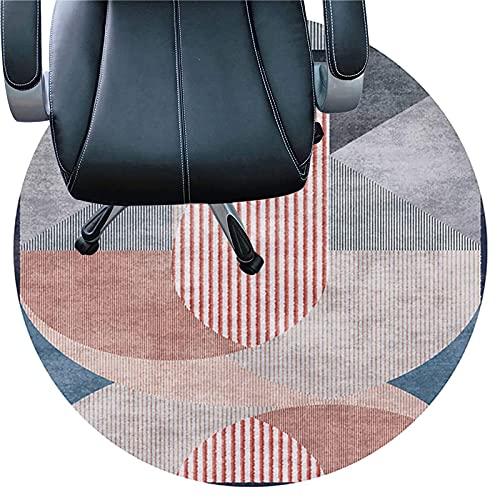 LLKK Alfombrilla de piso para silla de oficina, lavable, 6 mm de grosor, antideslizante, fácil de limpiar (tamaño: 120 cm, color: C)