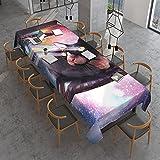 Universe Lazer Space - Mantel rectangular con diseño de gato sin pelo, a prueba de polvo, para cocina, comedor, mesa, decoración primavera/verano/interior/exterior