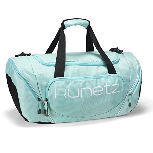 Runetz - Gym Bag for Women and Men - Ideal Workout Overnight Weekend Bag - Sport Duffle Bag - XL SIZE 30 x 14 x 12 inches - TEAL