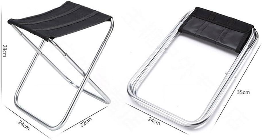 WEIZI Tabouret Pliant Mazar Chaise de pêche Portable Alliage d'aluminium Chaise de Plage Multifonctions extérieur (24 * 22 * 28cm) (Couleur: 2) 1-1