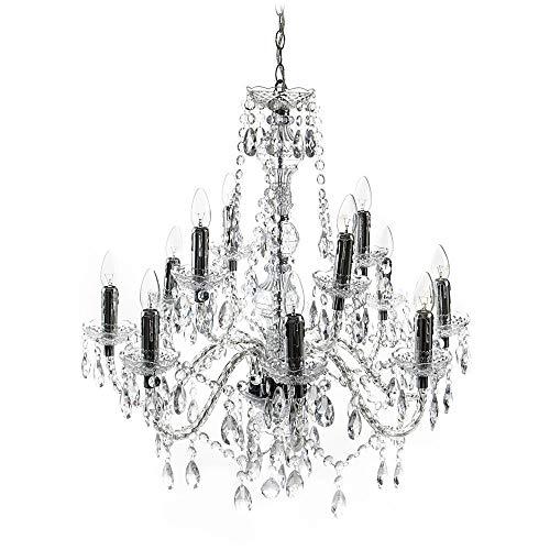 Tomasucci Jewel Lampe mit 12 Lichtern, Transparent, Durchmesser 80 cm/höhe 79 cm
