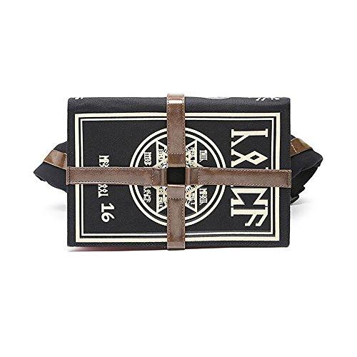 TOMORI Anime Cosplay Backpack Magic Book Canvas Schoolbag Satchel Shoulder Bag Crossbody Bookbag