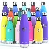 MIKAMEE Botella de Agua Acero Inoxidable 350/500/650/750ml | Aislamiento de Vacío de...