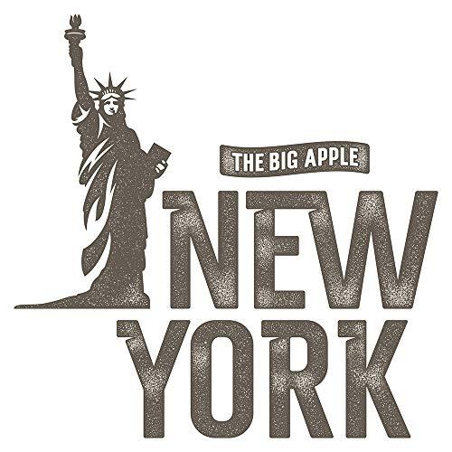 Wandtattoo USA Wandsticker Big Apple Freiheitsstatue mit New York Schriftzug Am
