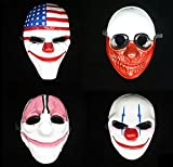 KAIMO 4pc Halloween Plastic Mask for Party Gift Decoration Cosplay Costume Props