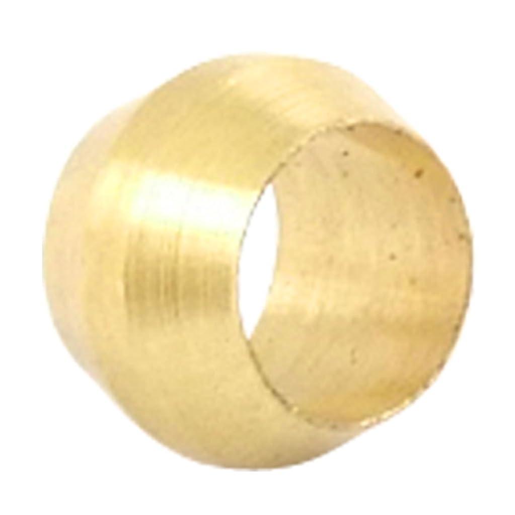 流行しているポテト土地uxcell 真鍮圧縮スリーブ 金環 リングスリーブ チューブ用