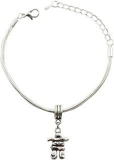 Inuksuk Snake Chain Charm Bracelet