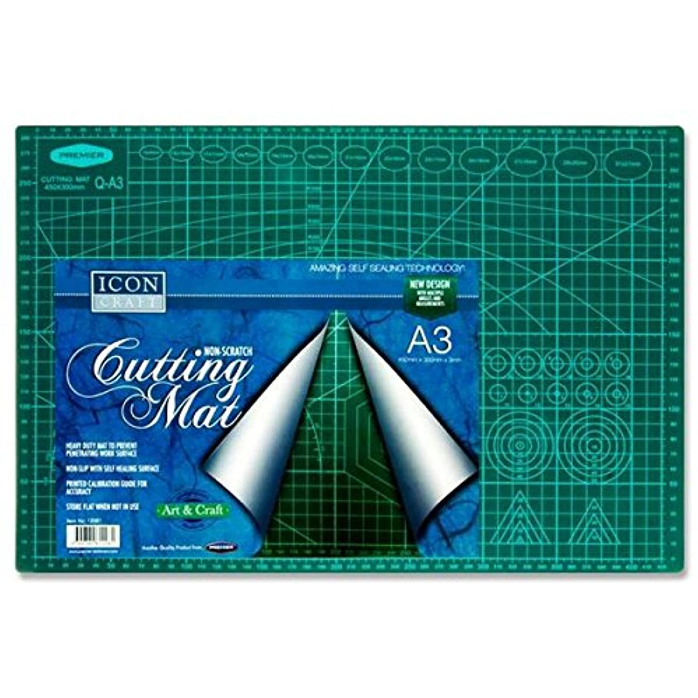 Premier Stationery W2112081 A3 Icon Non-Scratch Cutting Mat