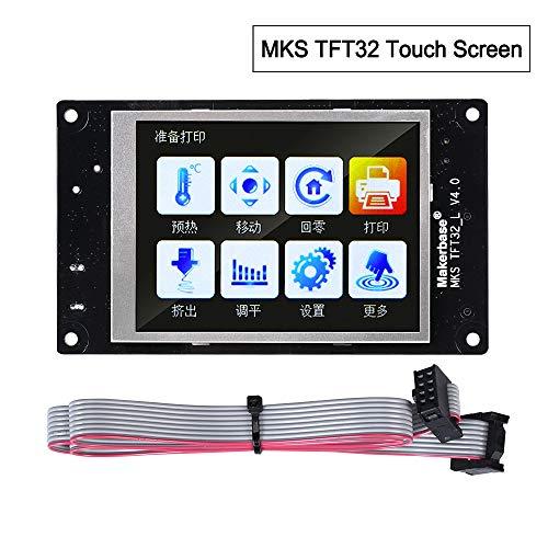 BZ 3D MKS TFT32 V4.0 - Pantalla táctil a color (3,2 pulgadas, compatible con panel de control RepRap, Wi-Fi, aplicación, soporte de conmutación por error, compatible con impresoras 3D)