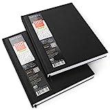 Arteza Blocco da disegno con copertina rigida, 2 pezzi da 100 fogli, totale 400 pagine, 21,6 cm x 27,9 cm