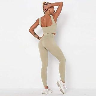 Seamless Push-up Yoga Suit Women 2 Piece Corset Bra Vest Bottoming Sportswear Workout Set Fitness Gym Suit Clothes Workout...