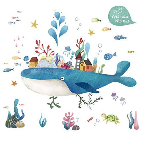 Cartoon Fairy Tale Island Stickers Muraux Enfants Chambre de Bébé Décoration de La Maison Pvc Murale Applique Kindergarten Stickers Papier Peint Décoration Murale 84 * 100Cm