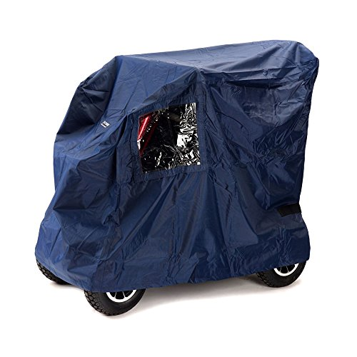 Ability Superstore - waterbestendig dekzeil Deluxe voor elektrische mobiel/scooter, donkerblauw