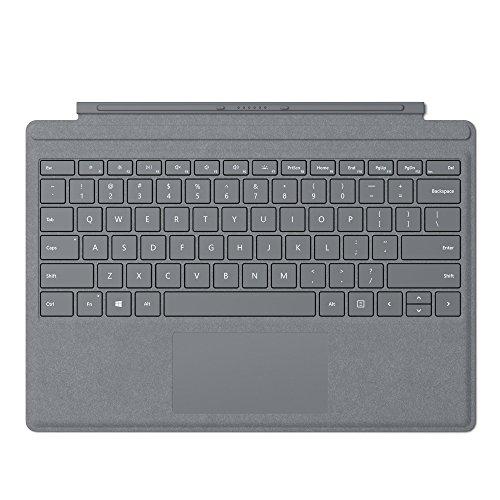 Microsoft Surface Pro Signature Type Keyboard Cover - Platinum (FFP-00001) (Renewed)