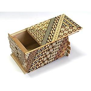 Japanese Puzzle Box 72steps with Secret Compartment Koyosegi