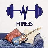 Gewichtheben Langhantel Fitness Gym Gym Sport Vinyl Wandaufkleber Aufkleber Familie...