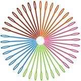 HQdeal Aiguille a Laine, 100 Pièces 9cm Multicolore Aiguilles à Coudre en Plastique, Aiguilles à Tresser, Aiguille Tricot pour Enfants Projets de Bricolage Artisanat Tapisserie et d'aiguille