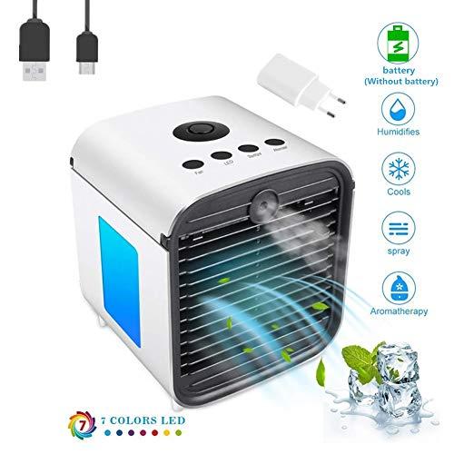 Nifogo Aire Acondicionado, Aire Refrigerador, Portatil Climatizador Evaporativo, 3-en-1...