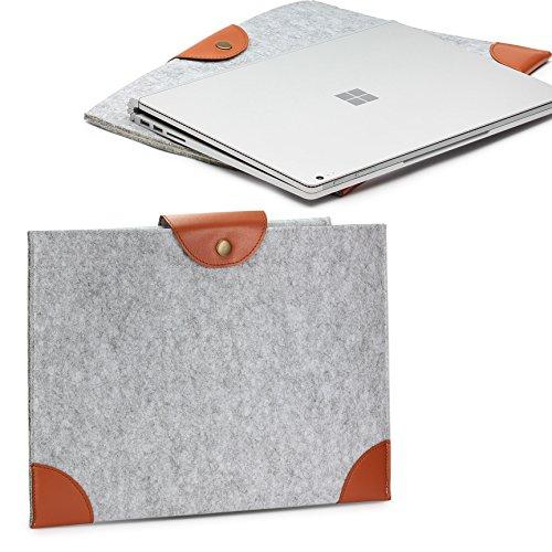 Urcover® Bolso Universal 13 Pulgadas, Estuche para Tablet/Ordenador Portátil Funda de Viaje Protección Sleeve - Gris/Marrón (iPad MacBook Laptop Notebook Samsung Tab ASUS Acer)