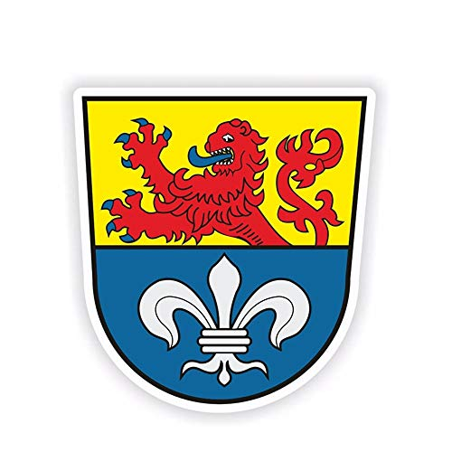 10.4Cm * 11.1Cm Persönlichkeit Darmstadt Wappen Autoaufkleber Aufkleber