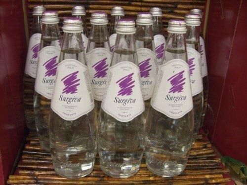 【イタリアの天然の炭酸水】Surgiva(スルジーヴァ) 750ml1ケース(12本入り) ガラス(ビン) 発泡性ミネラルウォーター