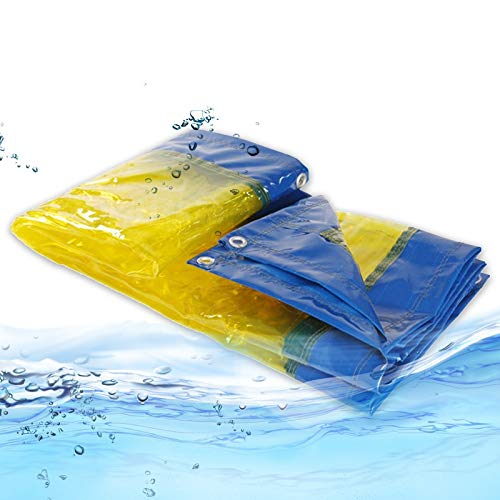 Lona MYAN Impermeable, Toldo Transparente Al Aire Libre Claro Cortina Resistente Al Clima para Pérgola, Porche, Kiosko, Cabaña (Color : Yellow, Size : 1.5M X 3M)