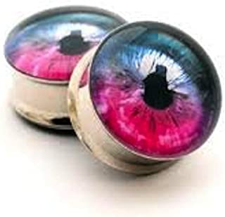 Eyeball Double Flared Surgical Steel (316L) Gauges/Plugs 2 Piece (1 Pair) (A/19)