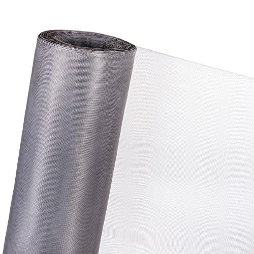 1,5m² INSEKTENSCHUTZNETZ Moskitonetz Fliegennetz Netzabdeckung (Meterware) (Grau, 150cm Breite)