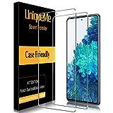 [2 PACK]UniqueMe Protector de Pantalla Compatible con Samsung Galaxy S20 FE / S20 Fan Edition 5G Cristal Templado, [Sin burbujas] Dureza 9H Película transparente HD Vidrio Templado