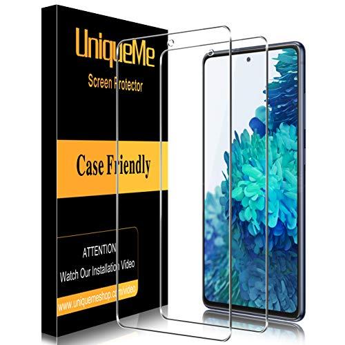 UniqueMe [2 Stück] Panzerglas für Samsung Galaxy S20 FE/Galaxy S20 Lite 5G Schutzfolie,[9H-Härte] [Anti-Bläschen] [Anti-Kratzen] HD klar Folie Displayschutz Gehärtetes Glas
