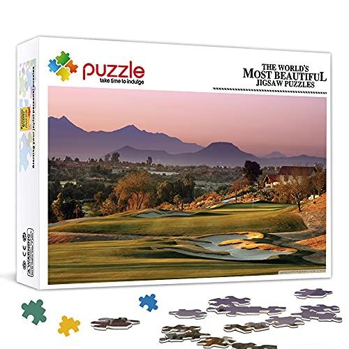 Mini Rompecabezas de 1000 Piezas-Country Golf Juego de Rompecabezas de 1000 Piezas para Adultos, niños y Adolescentes, Juego de Juguete de desafío Cerebral de 15'x 10'