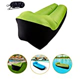 Charmylo Aufblasbares Sofa, Outdoor luftsofa Luftsack Strand Camping Sofa mit Augenmaske und...