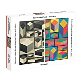 Galison MoMA Sol Lewitt 500 Piece Double Sided Puzzle for Families, Abstract Art Puzzle with Cubic Art in Black and White + Color