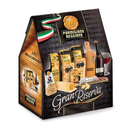 Confezione regalo natalizia 'Gran Riserva' con 9 specialità italiane