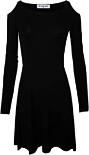 Women's Casual Slim Fit and Flare Round Neckline Dress by Tom's Ware