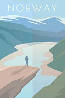 Norway Retro Travel Art Cool Wall Decor Art Print Poster 24x36