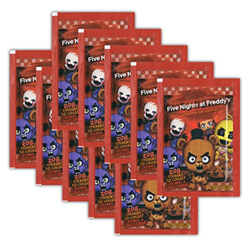 Just Toys–Five Nights at Freddy 's–Pegatinas–10Bolsas de Booster 60cromos