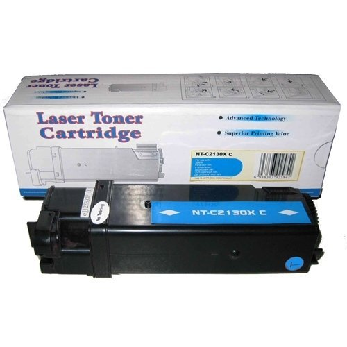 Compatible Cyan High Capacity Toner Cartridge - Replace Dell 330-1437 (T107C) Toner Cartridge for Dell 2130cn, 2135cn Color Laser Printer