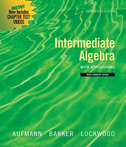 Download Bundle: Intermediate Algebra with Applications, Multimedia Edition, 7th + Math Study Skills Workbook, 4th 111187171X