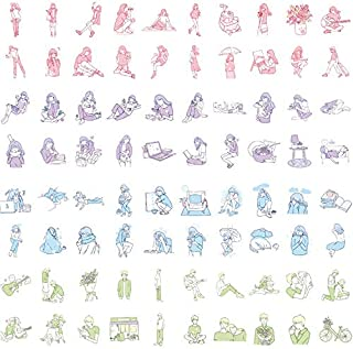 DzdzCrafts Summer Girl and Guitar Boy 160PCS Decorative Stickers Set for Card Making Scrapbooking Binder Diary Bullet Journal Planner Water Bottle Phone