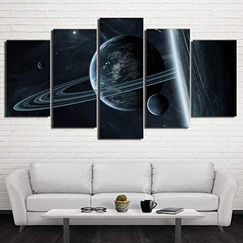 BDFS Modular HD Impreso Universo Galaxy Space Imagen 5 Panel Interstellar Mystery Astronaut Space Canvas Painting Home Decorate Post12x1612x2412x32inUnframed