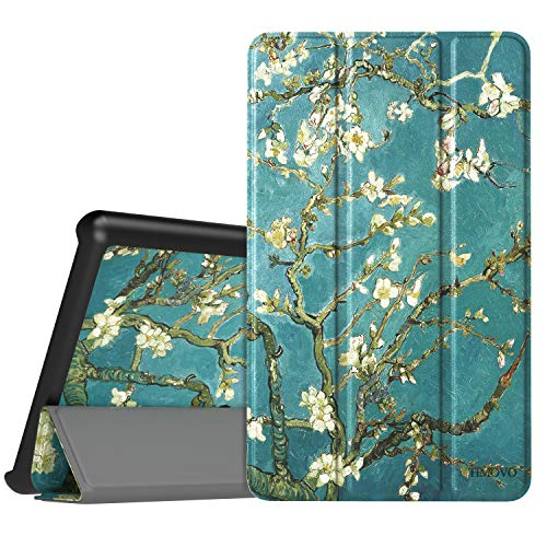 TiMOVO Case for Lenovo Tab E7, Light Weight Slim Case with Magnetic Cover Stand for Lenovo Tab E7 7 Inch 2019 Release Tablet - Almond Blossom