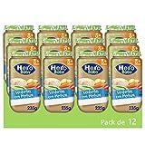 Hero Baby Tarritos de Verduritas con Merluza - Para Bebés a Partir de los 8 Meses - Pack de 12 x 235 g