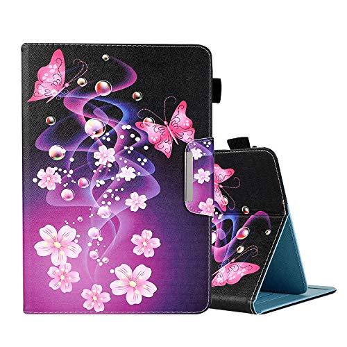 Funda para tablet ARCHOS 101C Oxygen ARCHOS CORE 101 3G V2 10.1, ARCHOS 97C Platinum 9.7 'Flip Folio Stand Cover Cierre Magnético Protector de Tablet con Ranuras para Tarjetas Blue Marble