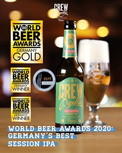 CREW Republic® Craft Bier Hop Junkie, Session IPA | World Beer Awards Gewinner Session IPA 2020 | Bierspezialität aus Bayern nach deutschem Reinheitsgebot (20 x 0,33 l) - 3