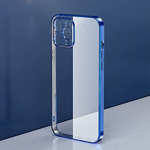 Amazon.com: DVPHA Luxury Transparent Square Frame Plating Case for iPhone  12 11 Pro Max Mini iPhone X Xs Xr 7 8 Plus SE 2020 Soft TPU Clear Cover  (Material: for iPhone 12,
