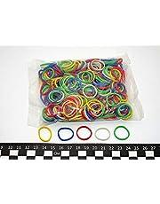 Progom - Gomas elásticas - 25mm x 1,7mm - varios colores (rojo, verde, azul, blanco y amarillo) - 50g