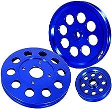 Aluminum Water Alternator Crank Engine Pulley Set Blue For Nissan Skyline RB20 RB25 RB26 Engines