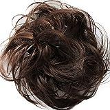 PRETTYSHOP Postizo Coletero Peinado alto, rizado, Moño descuidado,mezcla marrón # 4T30 G15B